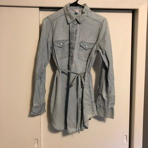 Chambray maternity tunic